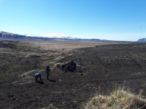Iceland travel Hekluskógum
